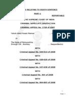 1993 Bombay Blast Judgment- Yakub Abdul Razak Memon