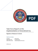 Colorado Amendment 64 Implementation Report