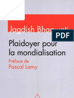 Bhagwati, Jagdish - Plaidoyer Pour La Mondialisation