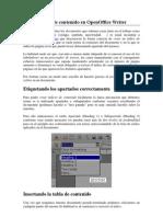 Crear índices de contenido en OpenOffice Writer