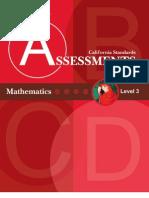 Bellwork California Standards Assessments Mathematics Level 3