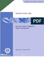 ISA 75.02 Control Valve Capacity Test Procedure
