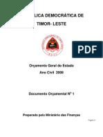 Orcamento Geral do Governo de 2008, Timor-Leste