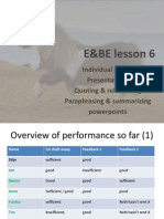 E&BE lesson 6