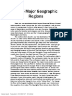 the 5 major geographic regions
