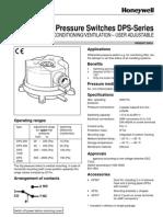 Honeywell Diff P Switch DPS