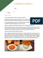 Mermelada de Zanahoria y Naranja
