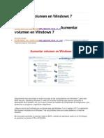 Aumentar Volumen en Windows 7