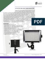 Litepanels Luma Broadcast Camera Led Light One Sheet Info