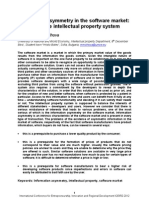 Information asymmetry on the software market and intellectual property rights