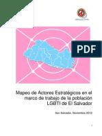 Mapeo de Actores Estratégicos en el marco de trabajo de la población LGBTI de El Salvador (noviembre 2012)