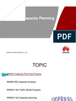 WiMAX 16e Capacity Planning