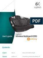 Logitech Wireless Keyboard K350 Manual