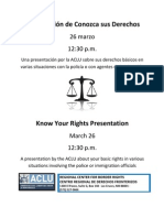 3-26-13 Know Your Rights Presentation