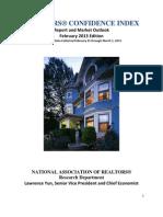 Realtors®  Confidence Index February 2013 Report