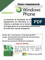 Flyer Decimas Competencias Programacion_Universidad Window Phone