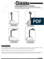 Fluxometros Para Inodoros y Urinarios