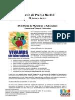 Boletín 010_ 24 de Marzo día Mundial de la Tuberculosis