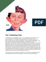 The Unthinking Man - 8-10-09