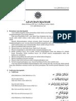 Tata Cara Azan Dan Iqamah