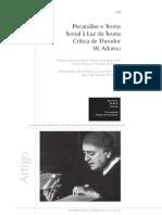 Psicanálise e Teoria Social à luz da teoria vrítica de Theodor W. Adorno