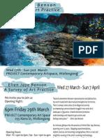 Ellen Jaye Benson a Survey of Practice Exhibition (Press Release 2)