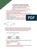 Cuestionario Operación de equipos industriales