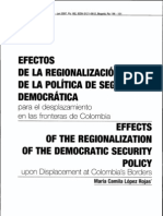 Regionalización del Conflicto