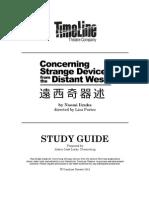 TimeLine ConcerningStrangeDevices StudyGuide