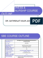 Small Business Entreprenurship Course Outline