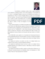 Hoja de vida de Félix Helí Contreras Martínez