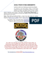 NDAA Resolution for Sheriffs