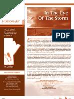 CSSM Ministries MM Newsletter Fall 2007