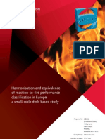 Equivalence and Harmonisation in Reaction-To-fire Performance - April 2012