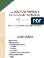 Automatas Finitos y Lenguajes Formales
