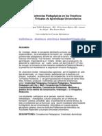 Las Competencias Pedagógicas en los Creativos Entornos Virtuales de Aprendizaje Universitario1