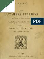 16. Les Luthiers Italien, Nouvelle Edition Du Parfait Lutie