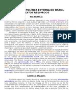História da Política Externa do Brasil (textos)