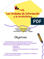 Las Unidades de Información y la Archivística- REAs
