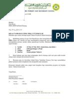 Surat Kelas Tambhan Masa Cuti March 2013