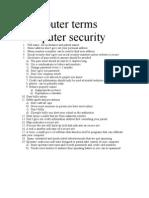 Computer Terms Computer Security