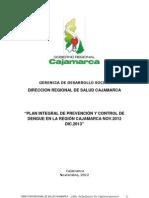 PLAN PREVENCIÓN Y CONTROL DE DENGUE EN REGIÓN CAXAMARCA 2012-2013