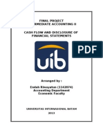 Cash Flow and Disclosure of Financial Statements