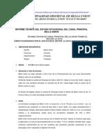 Informe Rehabilitacion de Bocatoma y Linpieza Del Canal Principal Bella Union 2013[1][1]