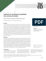 Auditoria de avaliação da qualidade dos serviços de saúde