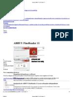 Manual ABBYY Fine Reader 11