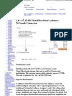 2.4 GHz 15 dBi Omnidirectional Antenna - N-Female Connector - HG2415U-PRO
