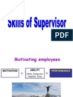 Skills of Supervisor