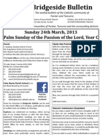 2013-03-24 - Passion Sunday Year C