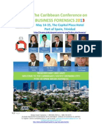 Caribbean Conference on Business Forensics 2013 Delegate's Kit